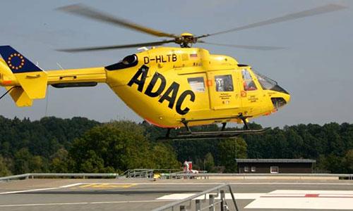 Hubschrauber Dachlandeplatz Klinikum Rosenheim