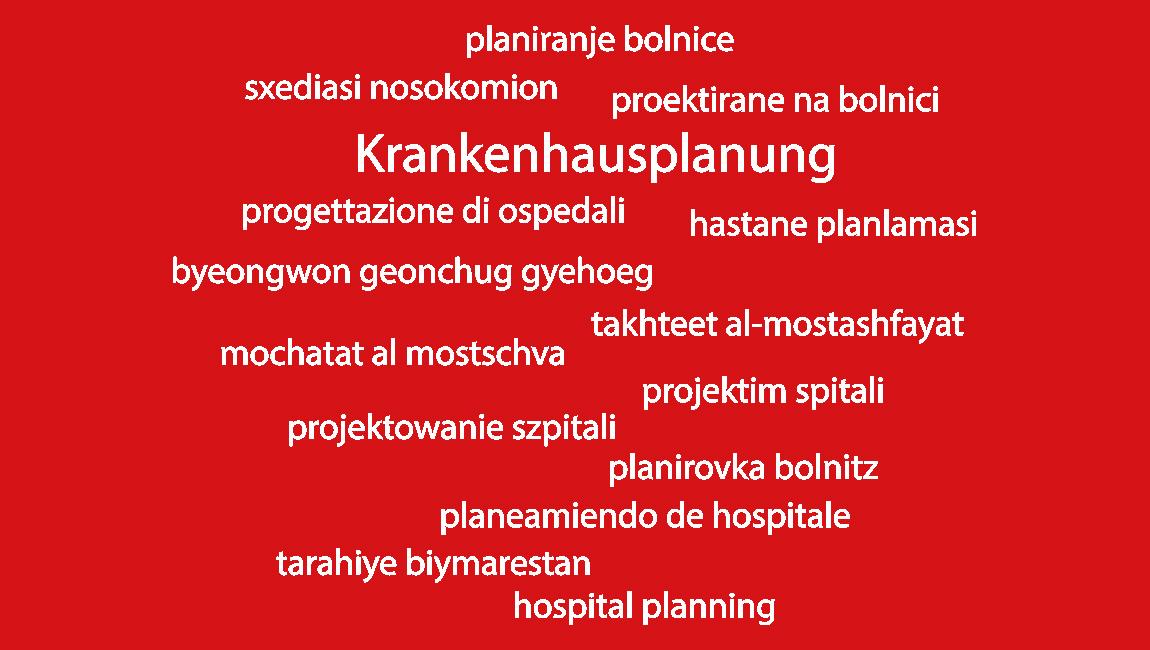 Krankenhausplanung in 15 Sprachen